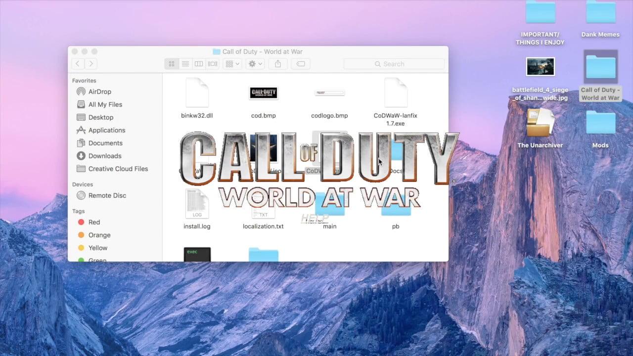 call of duty waw download mac